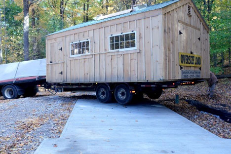 new sugar shack up on a trailer